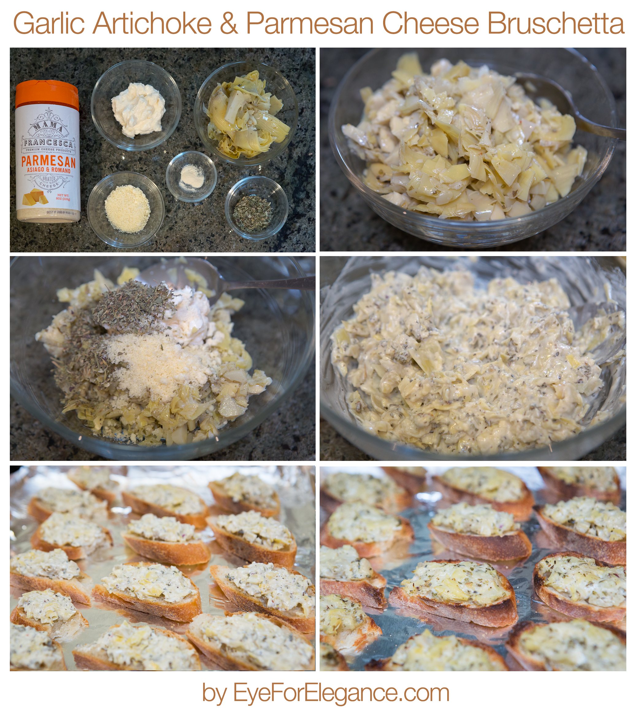 ParmesanCheeseArtichokeBruschetta-collage