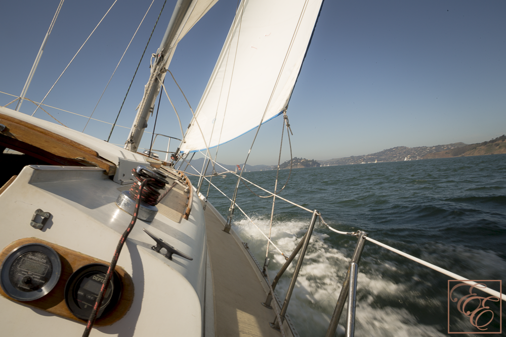 Sailing on the San Francisco Bay on a gorgeous sunny day