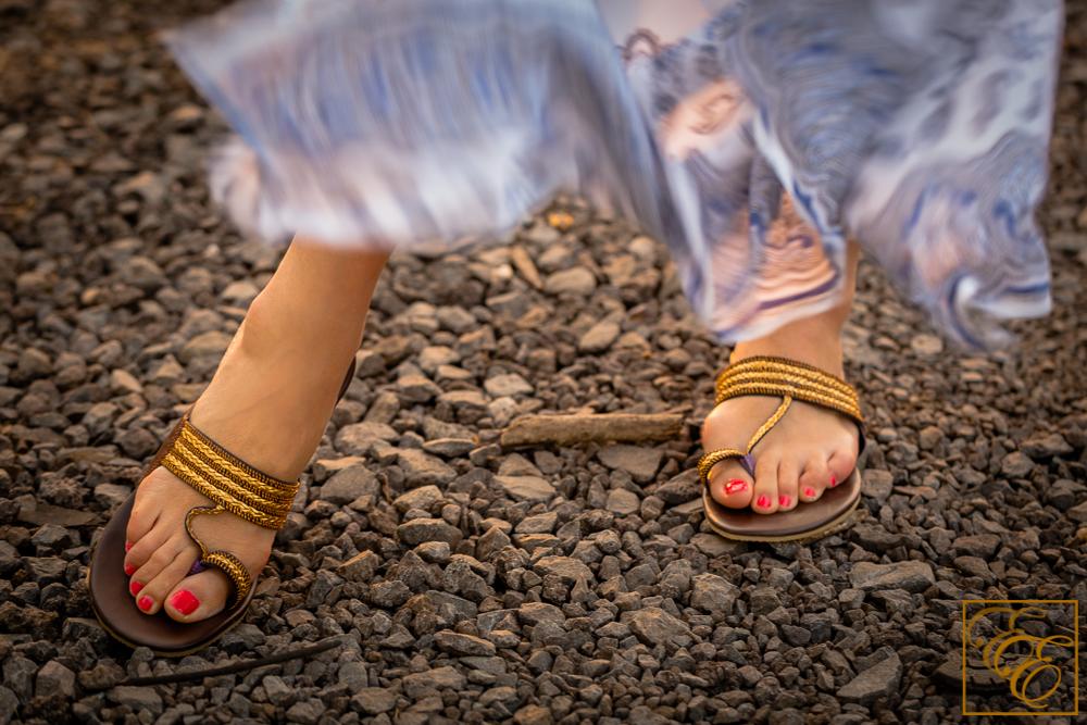 Fuchsia Cherry Gold Thread Rope sandals (kolhapuri chappal style)