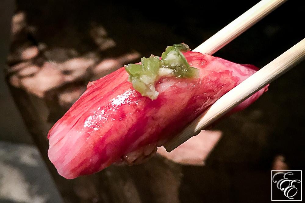 Satsuma wagyu beef nigiri