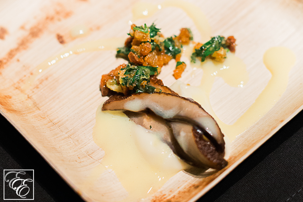 Portabello mushroom with turnip puree and herb gremolata