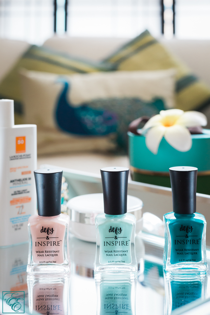 Target Defy & Inspire nail lacquer: The Right Reason, Paradise Island, and Make It Work