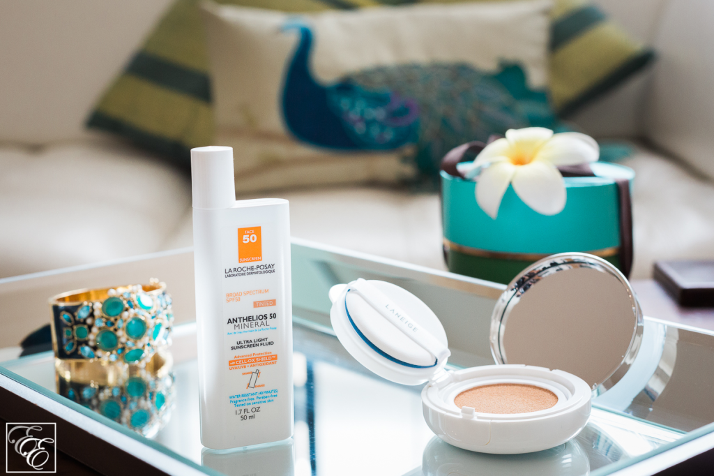 "Target Laneige BB Cushion in ""Light"" and La Roche-Posay Anthelios tinted sunscreen"