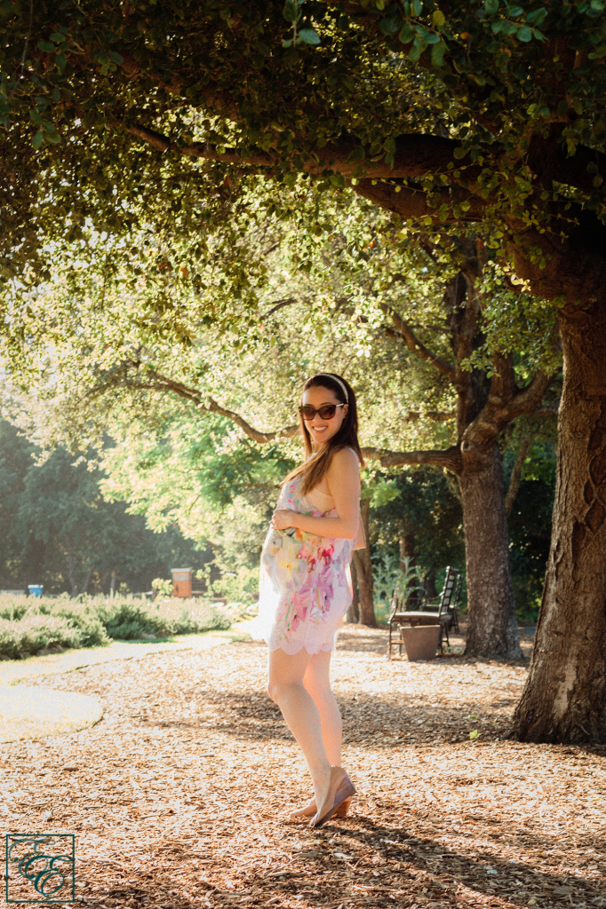 Ted Baker has gorgeous, feminine floral prints, and I transformed this swimsuit cover-up into a dress with the help of a Topshop shapewear slip underneath.
